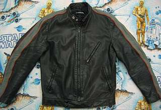 Davidson BLACK LEATHER Motorcycle JACKET Mens M MED 40 biker
