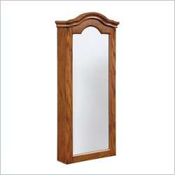 Powell Furniture Antique Oak Wall Jewelry Storage Mirror 081438366357