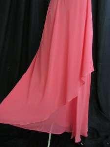 Talbots Coral Pink NWT Faux Wrap Pure Silk Cocktail Dress Midi Sheath