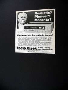 Realistic STA 225 Stereo Receiver 1976 print Ad