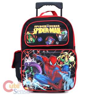 Spiderman School Roller Backpack Rolling Bag Monster 1