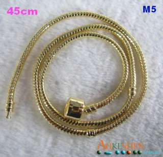 Snake European charms Pan doro Bracelet necklace chain fit charms
