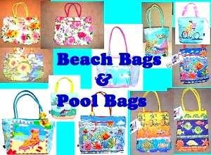 Beach Bag, Waterproof Pool Bag Sea Turtles, Fish NWT