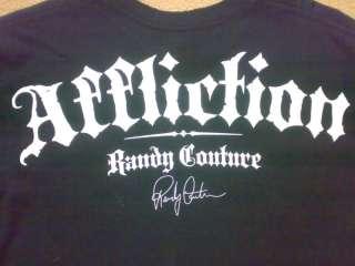 Mens XXL AFFLICTION Randy Couture Lightning Bolt Skulls T shirt New