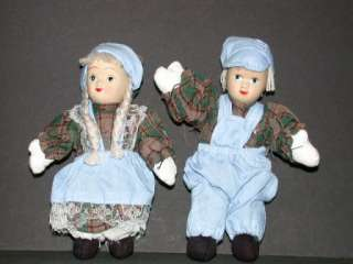 Country Girl & Boy Mini Rag Dolls   6 PairsToChooseFrom