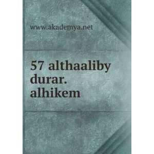 57 althaaliby durar.alhikem www.akademya.net Books