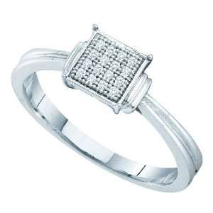 Sterling Silver 0.05 Dwt Diamond Micro Pave Set Ring