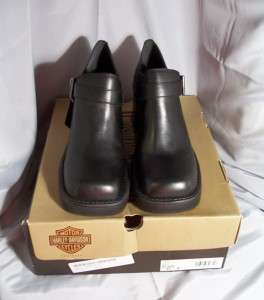 Harley Davidson Black Profile Oxford Shoe 81306 Sz 9.5