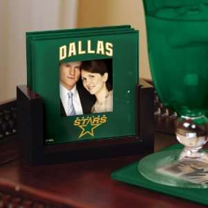 NHL Hockey Dallas Stars Art Glass Coaster Set Stars: Kitchen & Dining