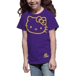 Tigers Hello Kitty Inverse Girls Crew Tee Shirt