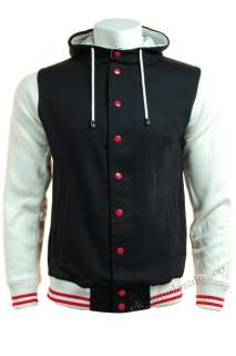 E02 Mens Letterman Baseball Varsity Sweatshirt Jacket Hoodie Top S