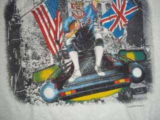 SOMEWHERE IN NEW YORK 1987 concert tour t shirt MEDIUM M Eddie