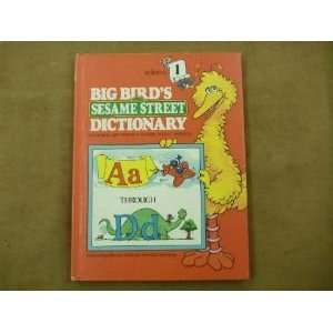 Big Birds Sesame Street Dictionary Volume 1 Books
