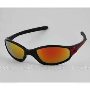 Eye Candy Eyewear   Black Frame Sunglasses with Red Mirror