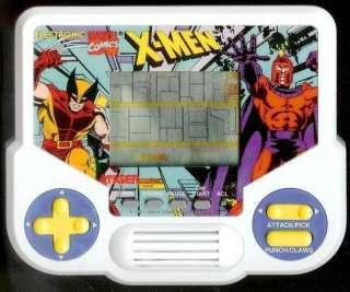 80s TIGER ELECTRONIC X MEN MARVEL HANDHELD LCD GAME ★ ARCADE COMIC