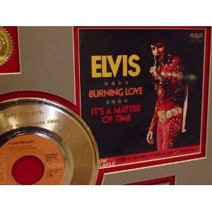 Elvis Presley Burning Love Gold Record Limited Edition Collectible