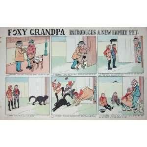 1904 Pet Dog Cat Children Foxy Grandpa Cartoon Colour