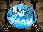 SNOW PRANCE OF THE DIAMOND UNICORN FRANKLIN Horse Plate