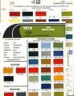 1973 TRUCK PAINT CHIPS CHEVROLET FORD DODGE IH JEEP DUPONT PPG