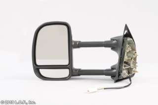 Left & Passenger RH Right Black Power Tow Towing Trailer Mirror