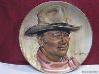 Tribute to John Wayne Collector Plate Endre Szabo #14459C