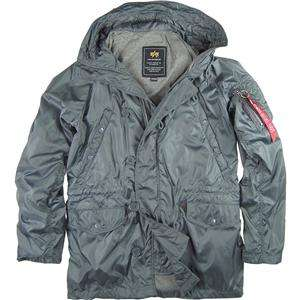 ALPHA INDUSTRIES XRAY COAT GRAY, BLACK, GREEN JACKET