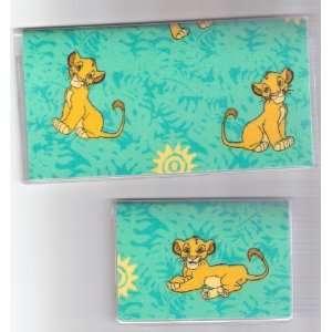 Checkbook Cover Debit Set Disney Lion King Simba
