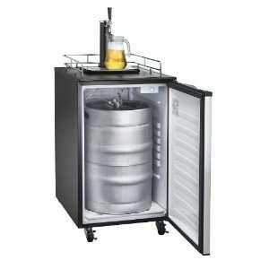 Stainless Steel Kegerator Beer Dispenser Refrigerator