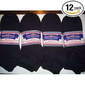 DIABETIC SOCKS,SIZE 9 11 MEDIUM, BLACK COLOR,LOW CUT,PHYSICIANS CHOICE
