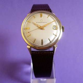 1950s Mens Vintage ETERNAMATIC   14k GOLD FILL   1424 Automatic