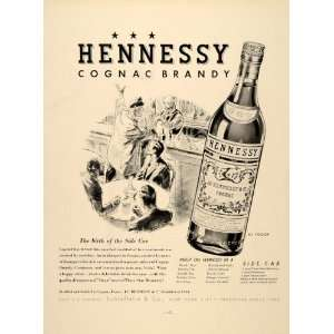 1937 Ad Brandy Cognac Liquor Hennessy Antique Bottles