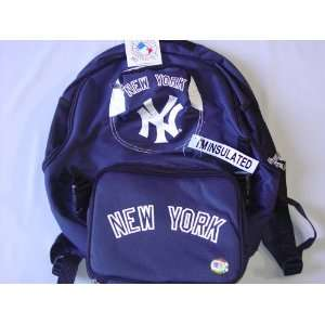New York Yankees MLB Backpack w/ Lunch Box Sports