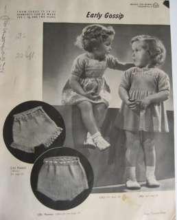 Vintage 1930s BEEHIVE BABY KNIT & CROCHET Pattern BOOK