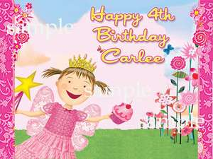 PINKALICIOUS Edible Birthday Party CAKE Topper Image