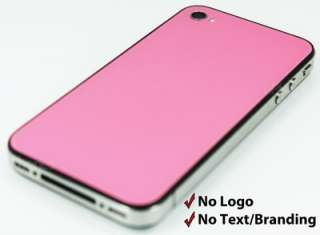Pink (Black Frame) iPhone 4S Back Glass / Fits All iPhone 4S / Flash