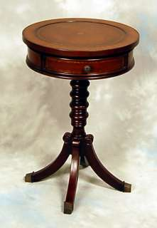 Classica Dark Brown Round Pedestal End Table
