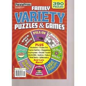 Penny Press Family Variety Puzzles & Games (390 Puzzles, November 2011