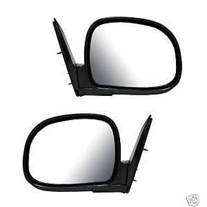 1995   1998 Chevy Blazer Black Foldaway Manual Mirror (below eyeline