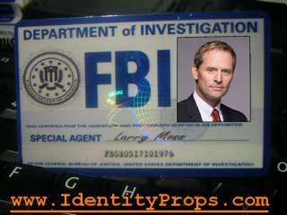 FBI Identification Card Larry Moss ID Card Prop