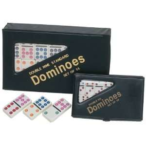 Ivory color tiles with assorted color dots in vinyl case Toys & Games