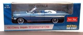 18 1961 Chevy Impala BLUE convertible