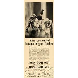 1935 Ad John Jameson Irish Whiskey Alcohol Liquor Drink   Original