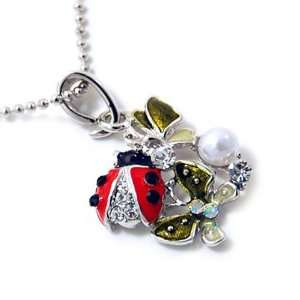 Ladybug and Butterfly Pendant Necklace Fashion Jewelry Jewelry