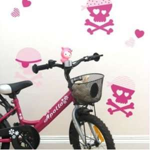 Forwalls Removable Girls Pink Pirate Wall Decal Sticker Baby