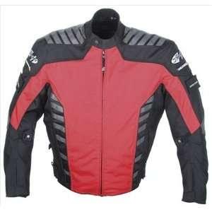 Joe Rocket Airborne Mens Textile Motorcycle Jacket Red/Black Large L