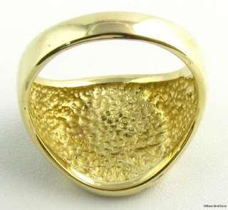LARGE* Masonic Symbol Square Compass Masons RING   14k Yellow Gold