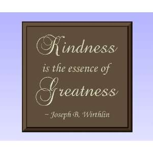 Decorative Wood Sign Plaque Wall Decor with Quote Kindness is the