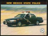 NEW MEXICO STATE POLICE HIGHWAY PATROL TROOPER Car Card