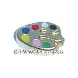 Painting Pallet Floating Locket Charm