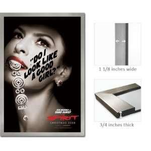 Silver Framed Spirit Eva Mendes Sand Saref Poster